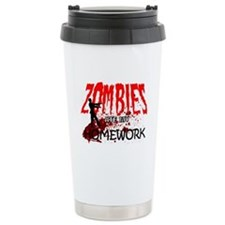 Zombies Ate My Homework Ceramic Travel Mug