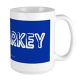 Malarkey white on blue Mug