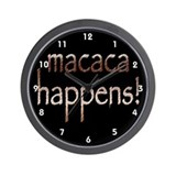 Macaca Happens! Wall Clock