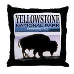 Bison Yellowstone National Pa Throw Pillow