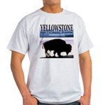 Bison Yellowstone National Pa Ash Grey T-Shirt