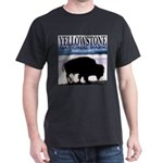 Bison Yellowstone National Pa Black T-Shirt