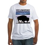 Bison Yellowstone National Pa Fitted T-Shirt