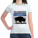 Bison Yellowstone National Pa Jr. Ringer T-Shirt