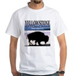 Bison Yellowstone National Pa White T-Shirt
