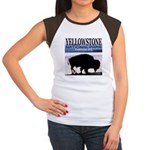 Bison Yellowstone National Pa Women's Cap Sleeve T