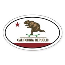 California Skateboarding Bear Flag Decal