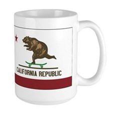 California Skateboarding Bear Flag Mug