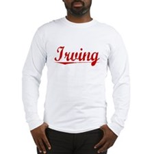 Irving, Vintage Red Long Sleeve T-Shirt