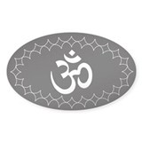 om b/w1 Oval Decal