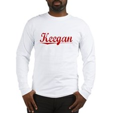 Keegan, Vintage Red Long Sleeve T-Shirt
