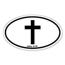 Cross Oval Oval Stickers