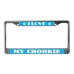 I Love My Chorkie License Plate Frame