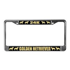 24K Golden Retriever License Plate Frame
