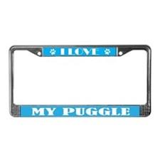 I Love Dog Breed Gift License Plate Frame
