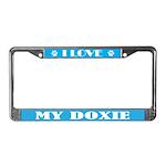 I Love Dog Breed Gift License Plate Frame