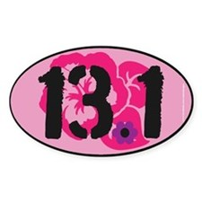13.1 Flowery Bumper Sticker 2