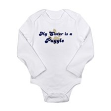 My Sister: Puggle Infant Creeper Body Suit