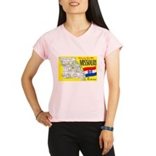 Missouri Map Greetings Performance Dry T-Shirt