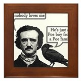 Poe Boy II Framed Tile