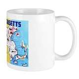 Massachussetts Map Greetings Mug