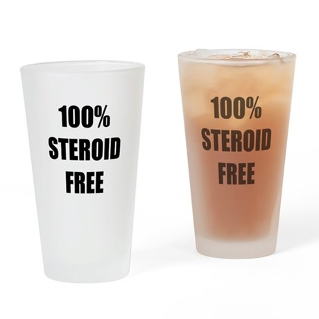 Steroid Free Drinking Glass