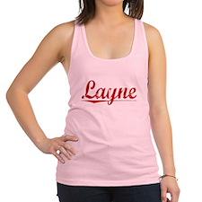 Layne, Vintage Red Racerback Tank Top