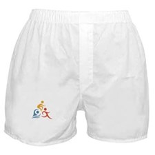 Funny Run bike swim Boxer Shorts