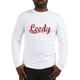 Leedy, Vintage Red Long Sleeve T-Shirt