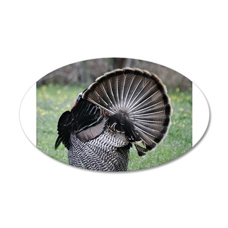 Shake Your Tail Feathers 20x12 Oval Wall Decal