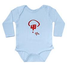 Peace Red Long Sleeve Infant Bodysuit