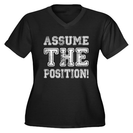 Assume the Position Womens Plus Size V-Neck Dark