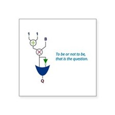 "To be or not to be Square Sticker 3"" x 3&"