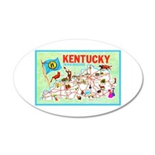 Kentucky Map Greetings Wall Decal