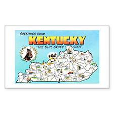 Kentucky Map Greetings Decal