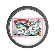 Kentucky Map Greetings Wall Clock