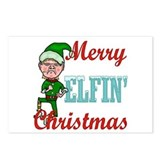 Funny Elfin Christmas Postcards (Package of 8)