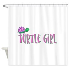 turtlegirl.png Shower Curtain