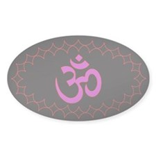 om purple Oval Decal