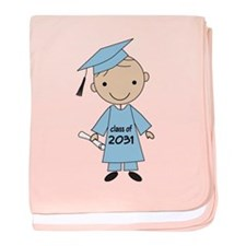 Class Of 2031 Boy Graduate baby blanket