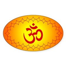 om golden1 Oval Decal