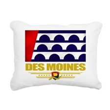 Des Moines (Flag 10).png Rectangular Canvas Pillow