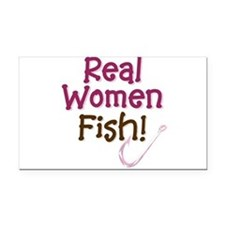 realwomen fish.png Rectangle Car Magnet