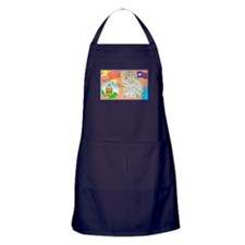 Georgia Map Greetings Apron (dark)