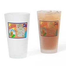Georgia Map Greetings Drinking Glass