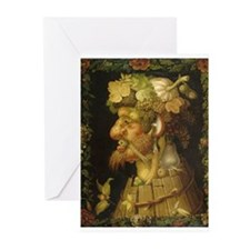 Giuseppe Arcimboldo Autumn Harvest Greeting Cards