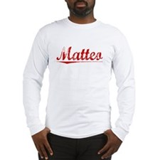 Matteo, Vintage Red Long Sleeve T-Shirt