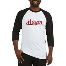 Mayer, Vintage Red Baseball Jersey
