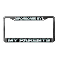 Sponsored by my parents License Plate Frame