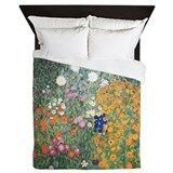 Flower Garden by Klimt Queen Duvet